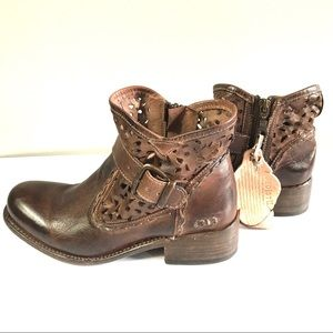 Bed Stu NEW Heather brown leather ankle bootie 7.5